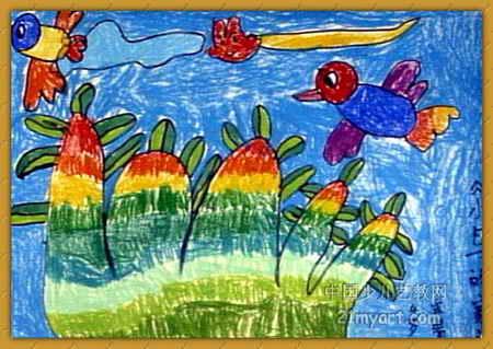画属于水彩画,长319px,宽450px,作者宋晴,来自莆田市涵江区涵西幼儿园