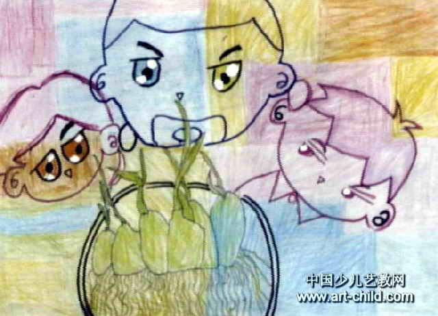 苗苗在我眼中成长儿童画作品欣赏