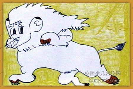 小狮子儿童画