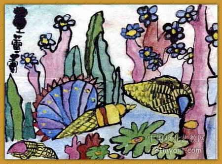 美丽的海底世界儿童画4幅(第2张)