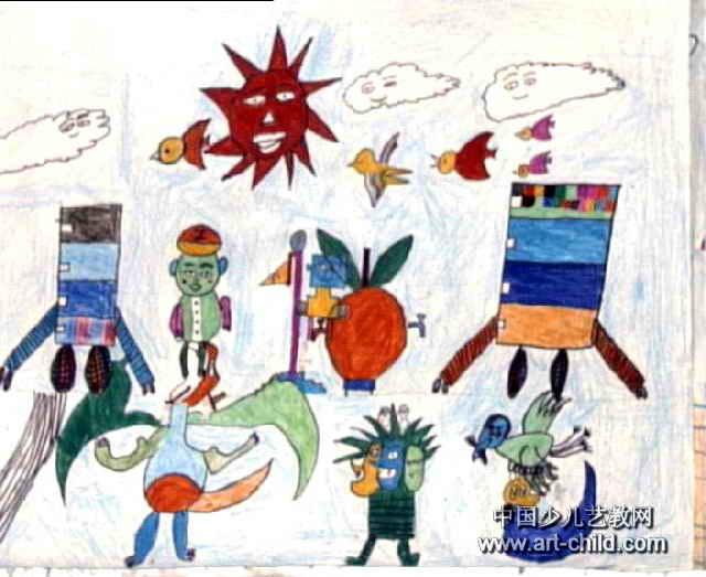 太空世界儿童画大全_太空世界儿童画汇总