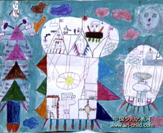 奇怪的世界儿童画图片