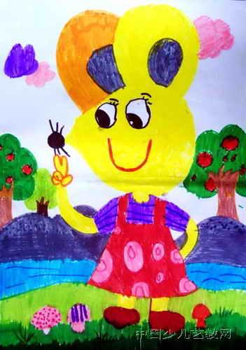可爱的小老鼠儿童画