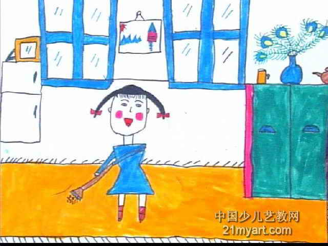 我是劳动的小能手儿童画图片