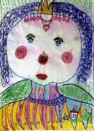 梦中的水果公主儿童画