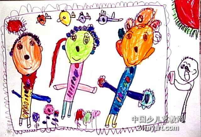 全家照儿童画2幅