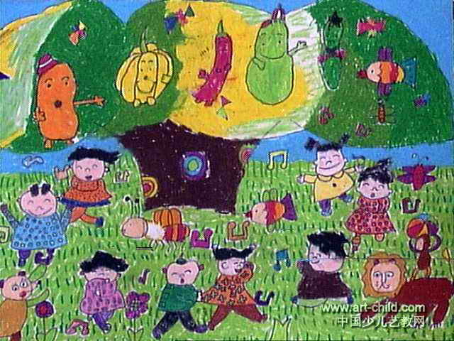 欢乐聚会儿童画作品欣赏