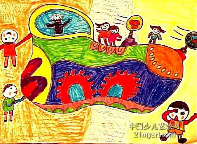 上一页下一页         未来世界儿童画5幅           娃戏莲叶间儿童