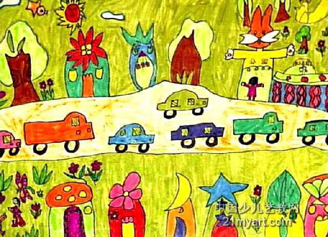 大老虎儿童画2幅