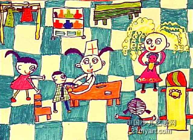 我当小医生儿童画作品欣赏