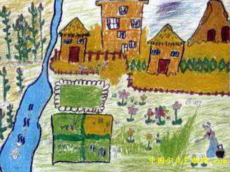 我的家乡儿童画7幅(第2张)