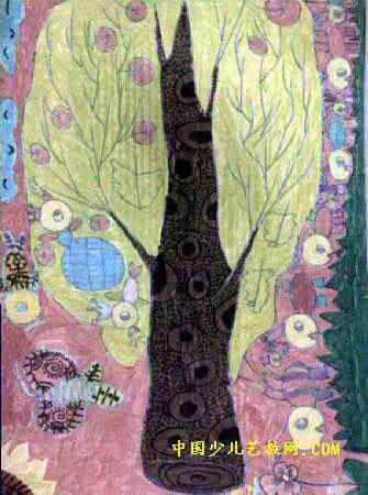 儿童画 龙儿/蚂蚁扛大树儿童画属于水彩画,长450px,宽335px,作者卢晨旋...