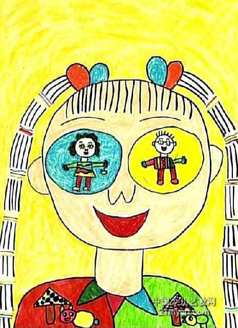 我眼中的爸爸妈妈儿童画作品欣赏