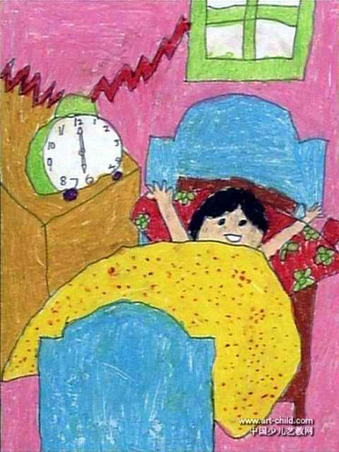 6点钟儿童画作品欣赏