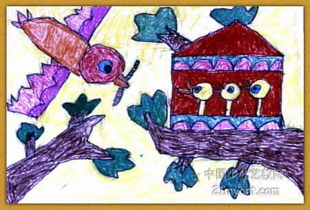 鸟妈妈儿童画属于装饰画