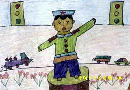 交通警察儿童画