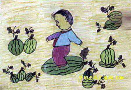 西瓜乐儿童画2幅