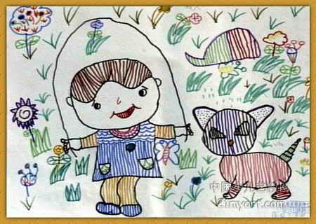 跳绳儿童画10幅