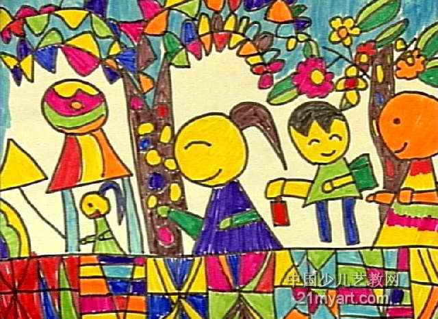 春游儿童画12幅 第7张图片