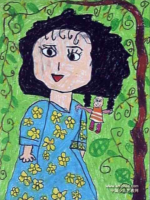 我是妈妈的小宝贝儿童画作品欣赏