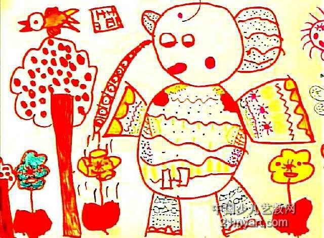 爱劳动儿童画5幅(第2张)