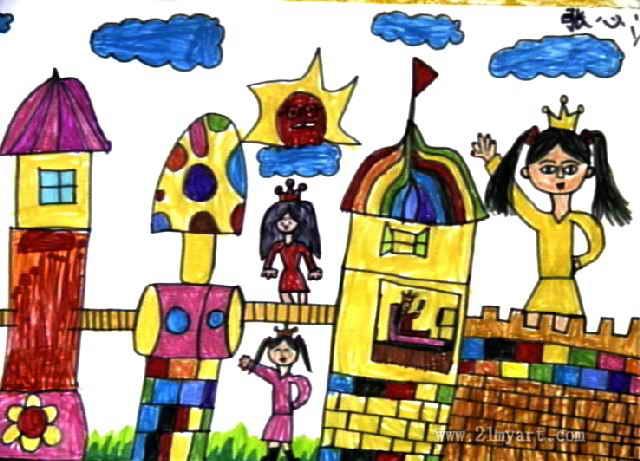 美丽的城堡儿童画图片