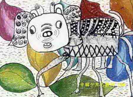 天狗兽儿童画属于水彩画