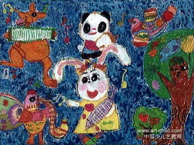 雪房子儿童画_绘画分享