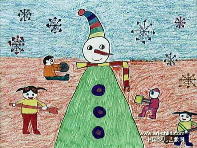 最可爱的雪人间笔画