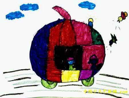 我造的汽车儿童画
