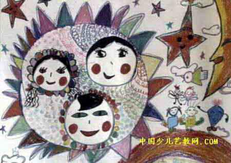 有关太阳的儿童画_有关春天的儿童画