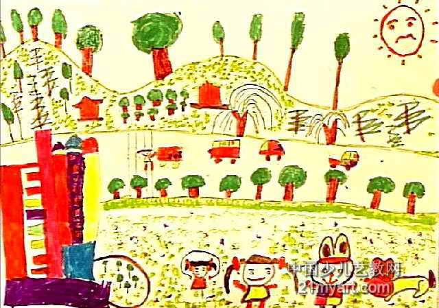 少儿水粉画ppt-我爱美丽的家乡儿童画