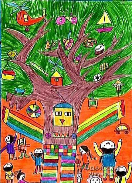 玩具书儿童画作品欣赏