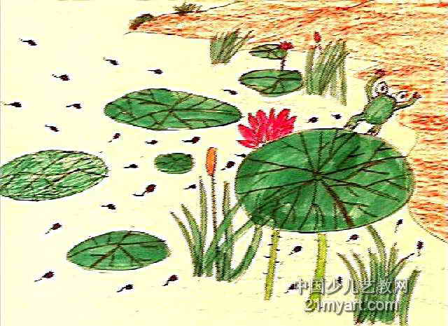 小蝌蝌找妈妈儿童画作品欣赏