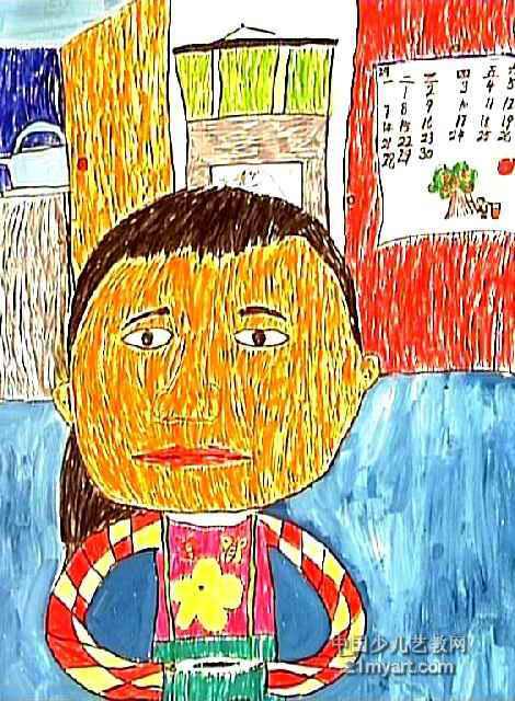 午饭简笔画-午餐儿童水彩画