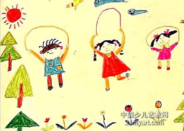 跳绳儿童画10幅 第5张