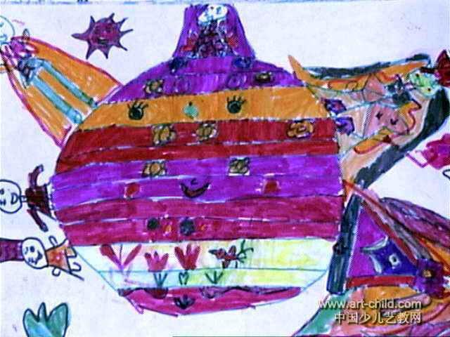 世界模特比赛儿童画作品欣赏