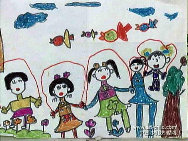 跳绳儿童画10幅 第8张