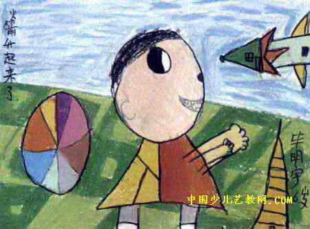 火箭简笔画-我看见火箭升天了儿童画