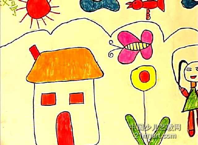 儿童科幻画移动的城堡_绘画分享