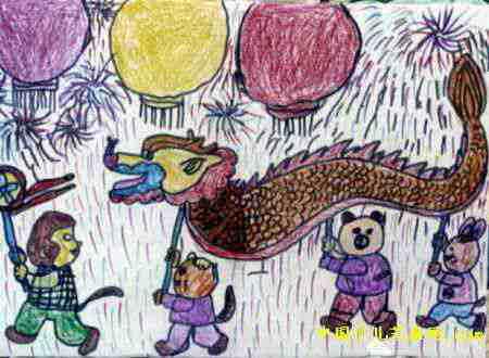 幼儿新年画画图片