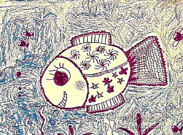 美丽的鱼妈妈儿童画作品欣赏