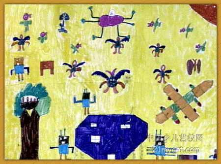 简笔画 儿童画 儿童水彩画