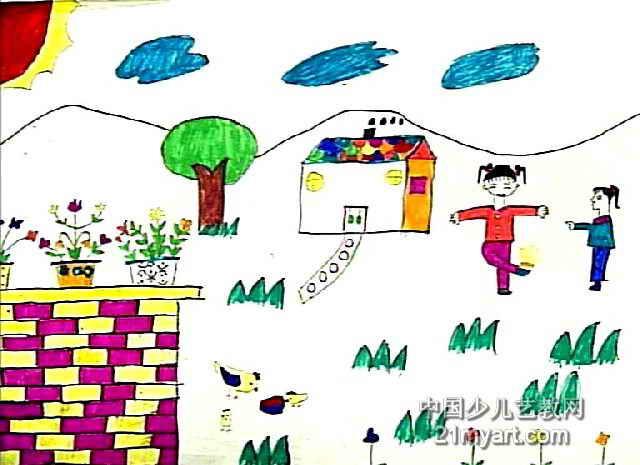 美丽的家园儿童画6幅(第5张)