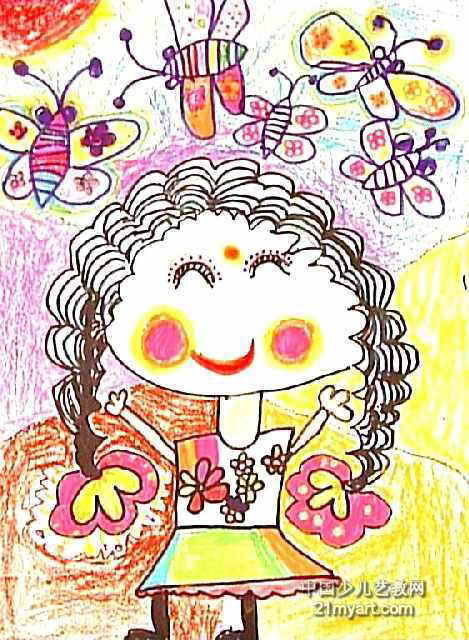 上一页下一页         小狗旅行家儿童画作品欣赏           欢度春节