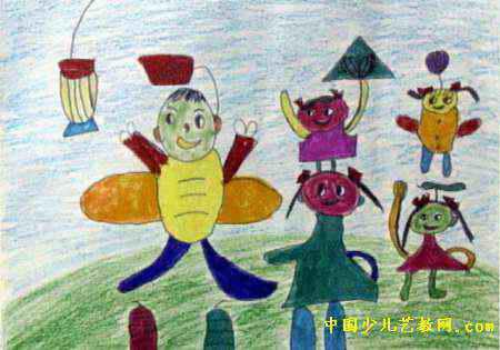 我们真快乐儿童画3幅