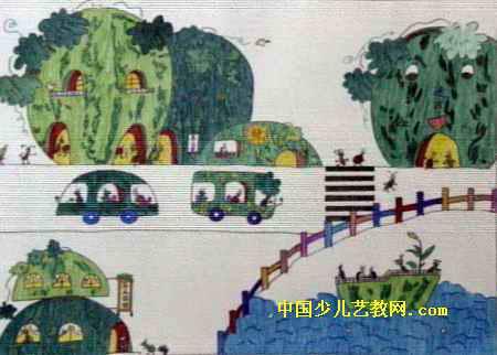 西瓜城儿童画属于水彩画