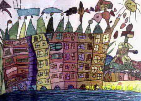 小鸟的家儿童画