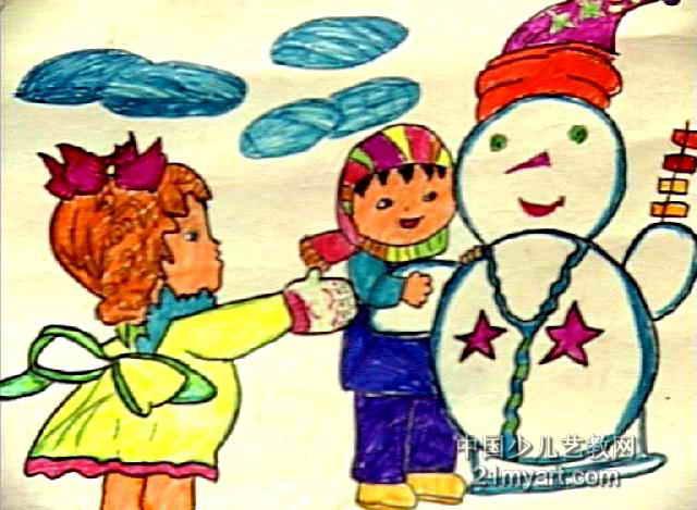 起儿童画作品欣赏