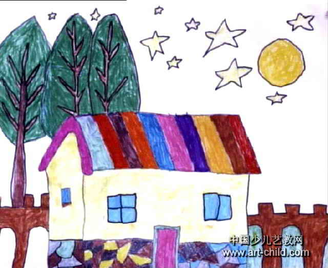 我的家绘画图片_我的家儿童画(二)5幅(第3张)